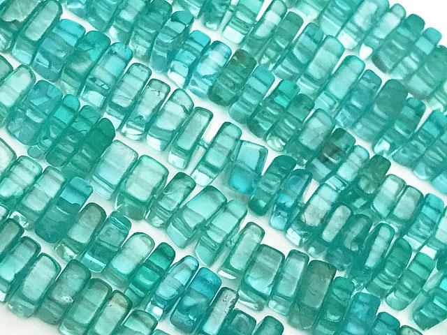 天然石【連販売】アパタイト スクエアチップ 3〜4mm【1連 1,300円】ビーズとパワーストーン