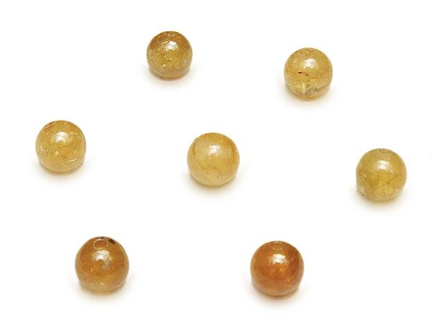 天然石【粒販売】イエロートルマリン(ゴールデン) 丸玉 5mm【4粒販売 480円】ビーズとパワーストーン