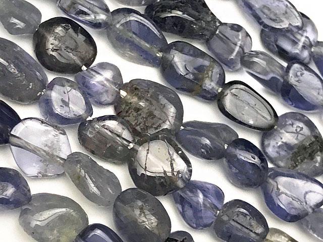 天然石【連販売】アイオライト ナゲット 5〜10mm【1連 700円】ビーズとパワーストーン