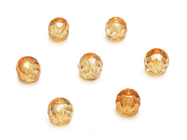 天然石【粒販売】ゴールデンオーラ 丸玉 64面カット 6mm【6粒販売 380円】ビーズとパワーストーン