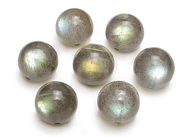 天然石【粒販売】ラブラドライト 丸玉 11mm No.2【2粒販売 1,980円】ビーズとパワーストーン