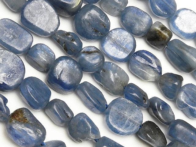 天然石【連販売】カイヤナイト ナゲット 4〜9mm【1連 900円】ビーズとパワーストーン