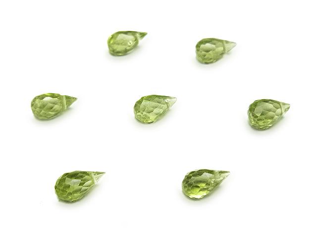 ビーズ天然石【粒販売】ペリドット ドロップカット 5〜6mm【6粒販売 400円】とパワーストーン