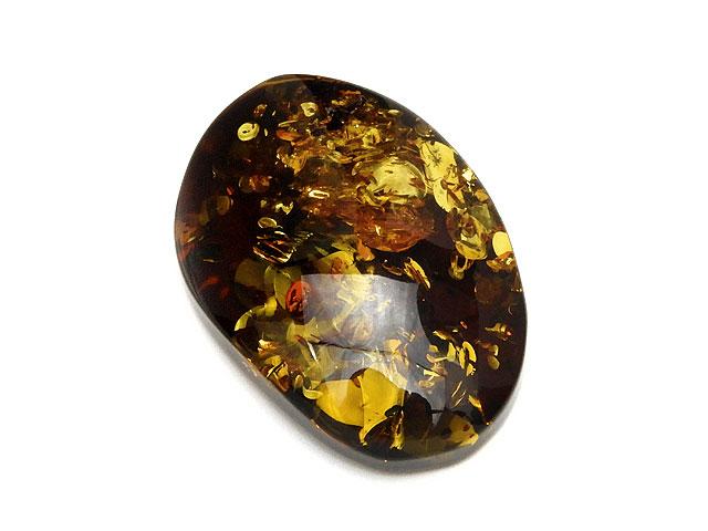 ビーズ天然石バルティックアンバー(琥珀) ルース No.6【1点もの 4,400円】とパワーストーン