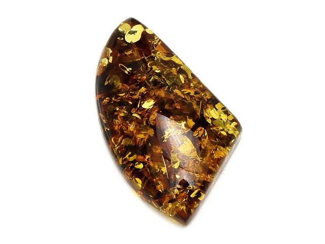 ビーズ天然石バルティックアンバー(琥珀) ルース No.7【1点もの 4,100円】とパワーストーン
