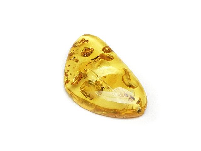 ビーズ天然石バルティックアンバー(琥珀) ルース No.19【1点もの 4,100円】とパワーストーン