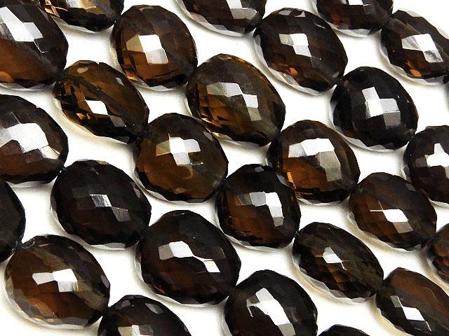 天然石【連販売】スモーキークォーツ ナゲットカット 5〜13mm[プレミアムカット]【1連 13,800円】ビーズとパワーストーン