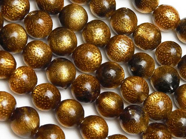 天然石【連販売】ゴールドコーラル(金珊瑚)丸玉 6mm【1連 1,400円】ビーズとパワーストーン