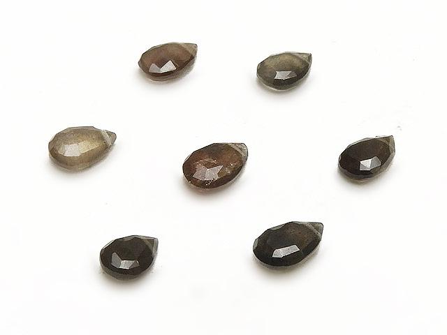 天然石【粒販売】スキャポライト ペアシェイプカット 7〜8mm【3粒販売 410円】ビーズとパワーストーン