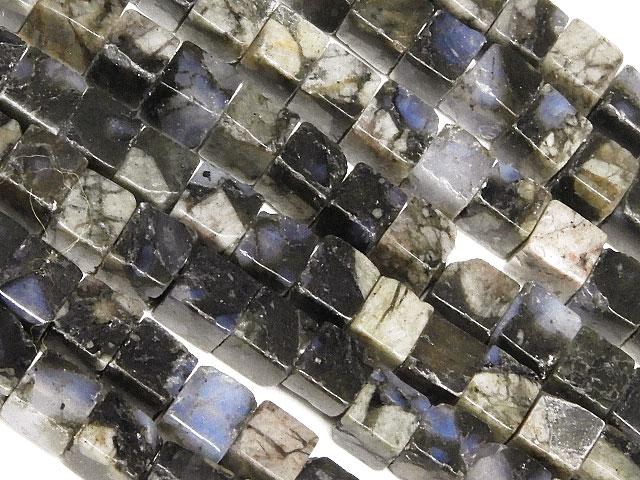 天然石【連販売】ケセラストーン キューブ 4mm【1連 900円】ビーズとパワーストーン