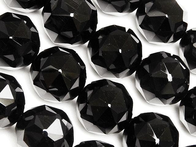 天然石【連販売】オニキス スターカット 丸玉 12mm[プレミアムカット]【半連 1,210円〜】ビーズとパワーストーン