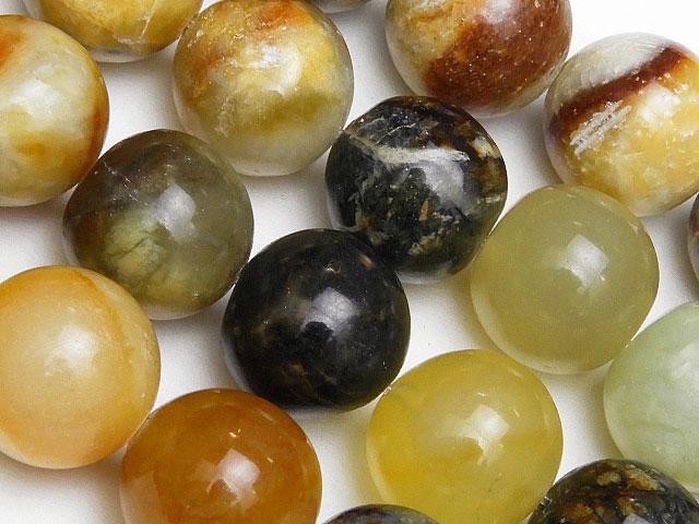 天然石【連販売】フラワージェード 丸玉 12mm【1連 900円】ビーズとパワーストーン