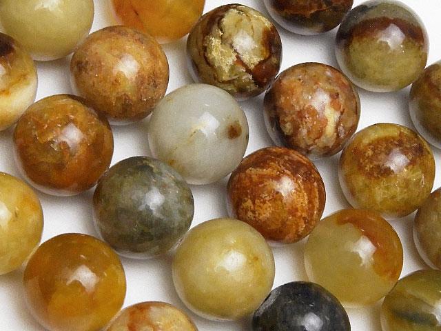 天然石【連販売】フラワージェード 丸玉 10mm【1連 700円】ビーズとパワーストーン
