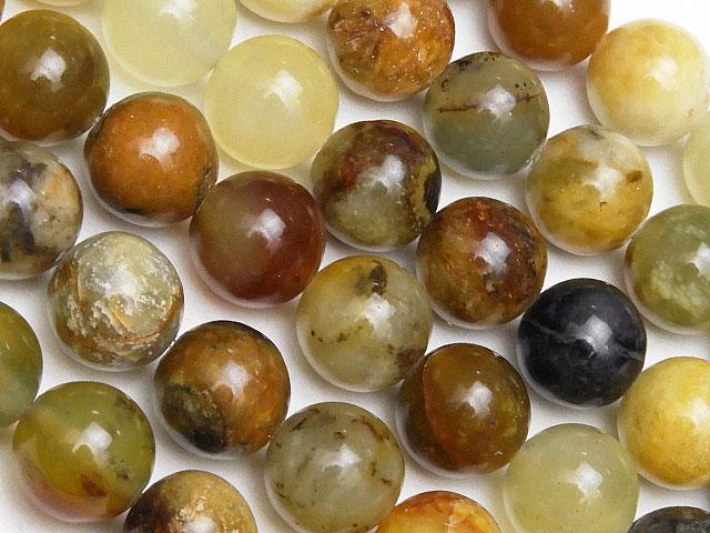 天然石【連販売】フラワージェード 丸玉 8mm【1連 600円】ビーズとパワーストーン