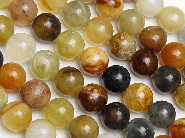 天然石【連販売】フラワージェード 丸玉 6mm【1連 500円】ビーズとパワーストーン