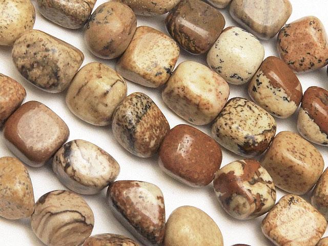 天然石【連販売】ピクチャージャスパー ナゲット 6〜10mm【1連 400円】ビーズとパワーストーン