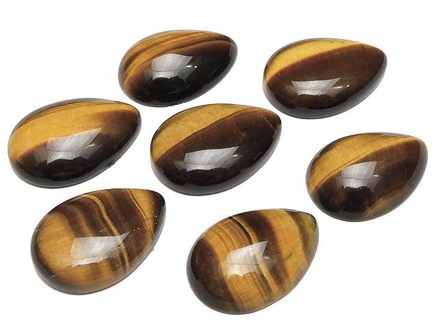 天然石【粒販売】イエロータイガーアイ カボション 24×17mm【1コ販売 400円】ビーズとパワーストーン