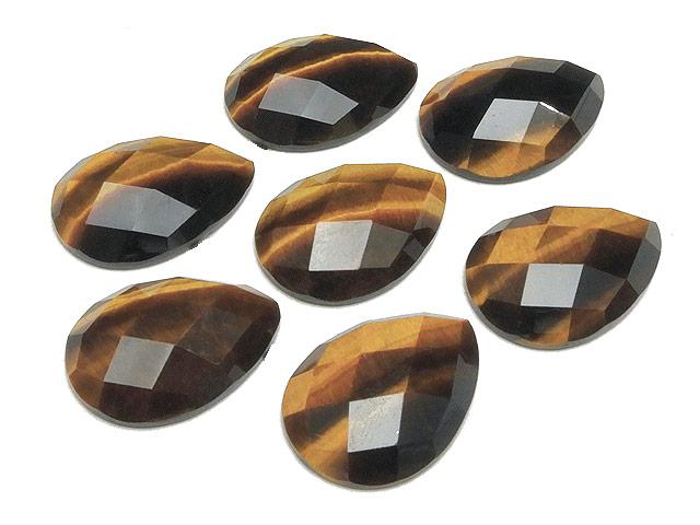 天然石【粒販売】イエロータイガーアイ カボションカット 24×17mm【1コ販売 400円】ビーズとパワーストーン