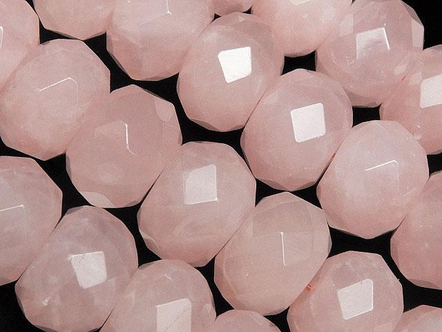 天然石【連販売】ローズクォーツ ボタンカット 12×8mm【1連 1,800円】ビーズとパワーストーン