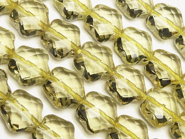 天然石【連販売】レモンクォーツ スターカット 10mm[プレミアムカット]【半連 5,390円〜】ビーズとパワーストーン