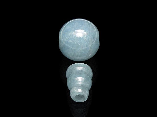 天然石アクアマリン Tホールビーズ+ボサビーズ 10mm【1セット販売 700円】ビーズとパワーストーン