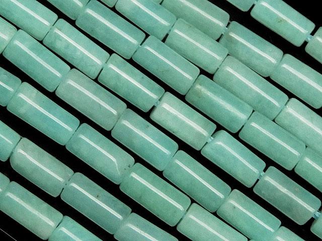 天然石【連販売】ペルー産 アマゾナイト チューブ 6×3mm【1連 1,400円】ビーズとパワーストーン