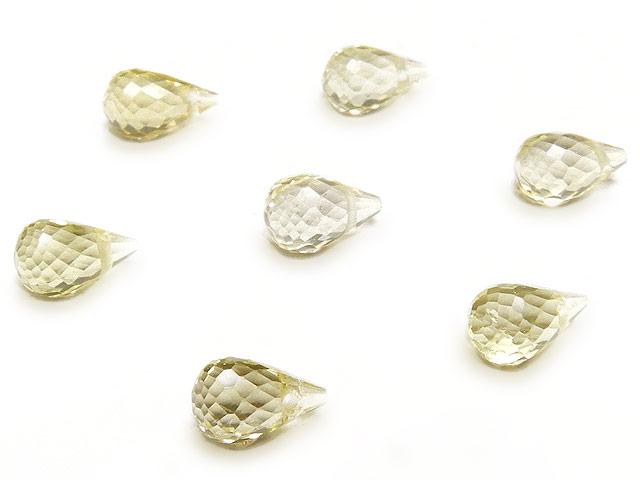 天然石【粒販売】レモンクォーツ ドロップカット 6〜7mm【3粒販売 540円】ビーズとパワーストーン
