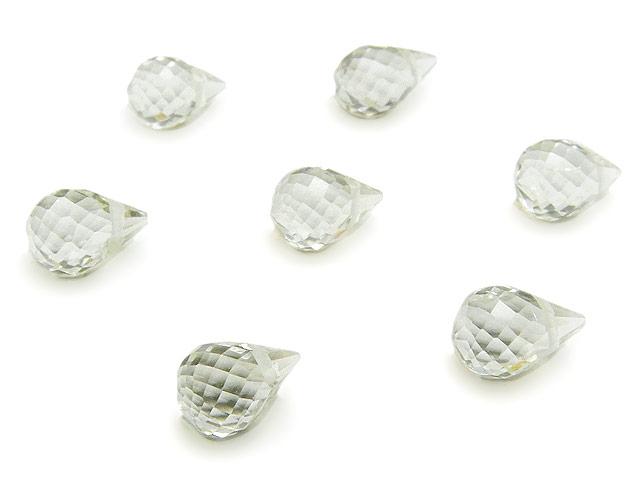 天然石【粒販売】グリーンアメジスト ドロップカット 6〜7mm【3粒販売 540円】ビーズとパワーストーン