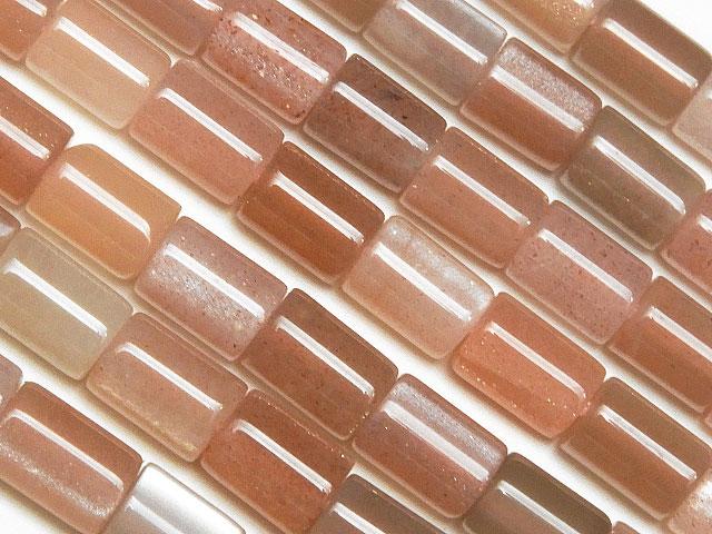 ビーズ天然石【連販売】マルチカラームーンストーン チューブ 5mm【1連 1,400円】とパワーストーン