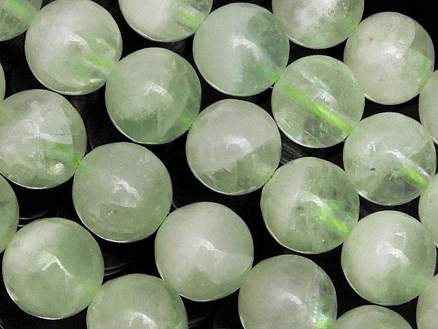 天然石【連販売】フローライトクォーツ 丸玉 10mm【半連 1,210円〜】ビーズとパワーストーン