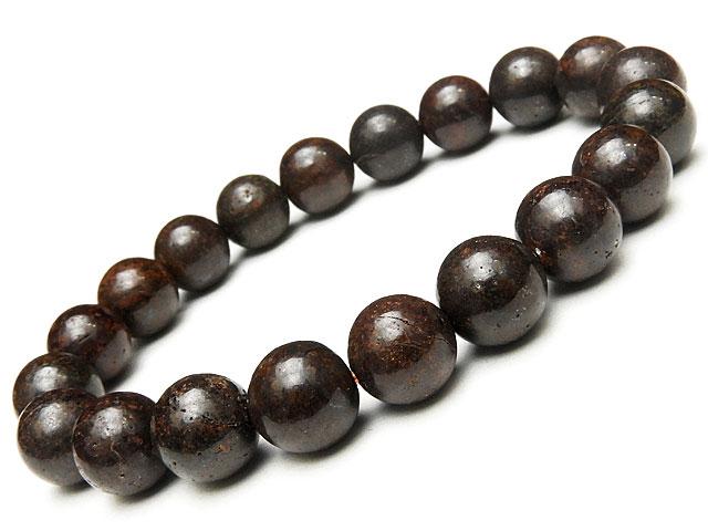天然石【連販売】サハラNWA869 コンドライト隕石 丸玉ブレス 10mm【1点もの 23,800円】ビーズとパワーストーン