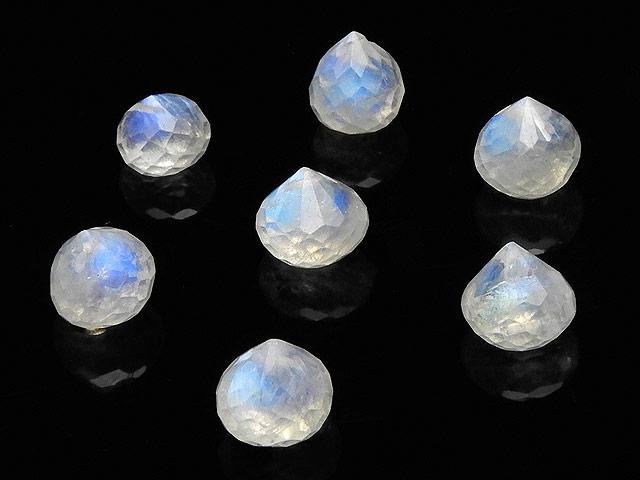 天然石【粒販売】レインボームーンストーン オニオンカット 6〜7mm【3粒販売 540円】ビーズとパワーストーン