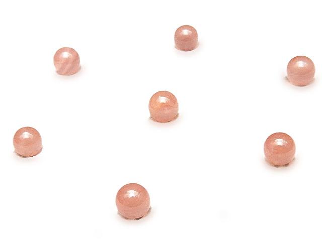天然石【粒販売】ペルー産 インカローズ 丸玉 3mm [穴なし]【8粒販売 390円】ビーズとパワーストーン