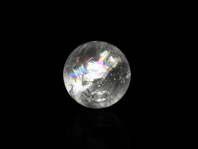 天然石ビーズ【粒販売】レインボークリスタル 丸玉 22〜28mm[穴なし]【1コ販売 600円〜】とパワーストーン