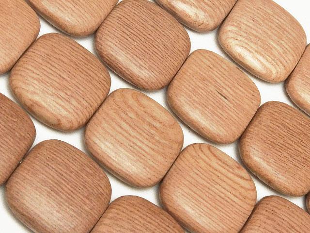 天然石【連販売】[ウッドビーズ]ローズウッド スクエア 16×4mm【1連 600円】ビーズとパワーストーン
