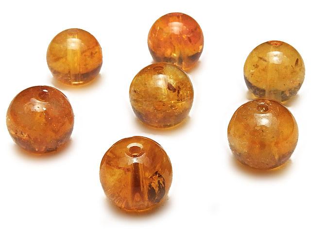 天然石【粒販売】ブランデーシトリン 丸玉 8mm【4粒販売 540円】ビーズとパワーストーン