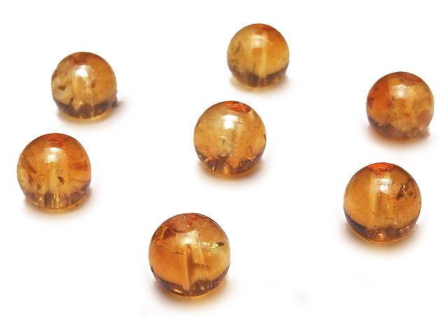 天然石【粒販売】ブランデーシトリン 丸玉 6mm【6粒販売 490円】ビーズとパワーストーン