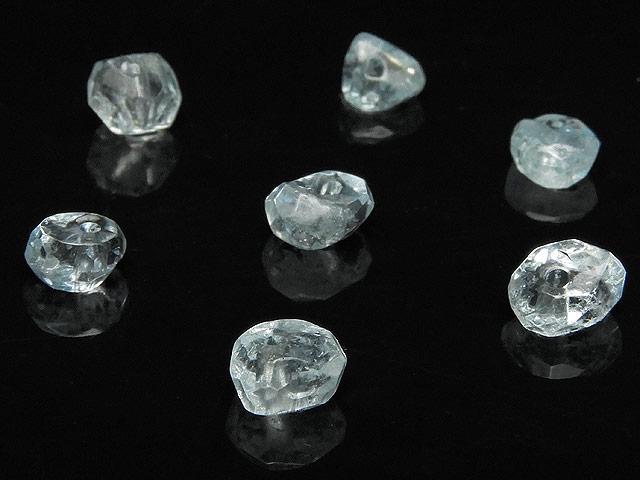 天然石【粒販売】アクアマリン ナゲットカット 4〜7mm【7粒販売 420円】ビーズとパワーストーン
