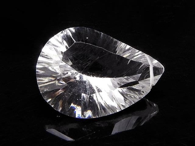 天然石天然水晶 クリスタルクォーツ リーフカット 21mm[コンケーブカット]【1点もの 1,960円】ビーズとパワーストーン