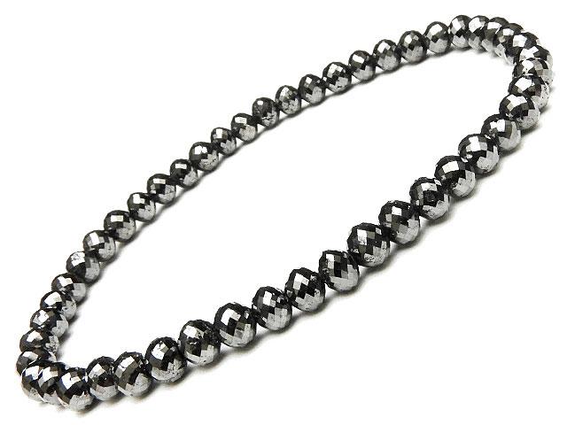 天然石【連販売】ブラックダイヤモンド ボタンカットブレス【1点もの 128,000円】ビーズとパワーストーン