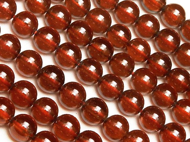 ビーズ天然石【連販売】オレンジガーネット(ヘソナイト)丸玉 5mm【半連 1,650円〜】とパワーストーン