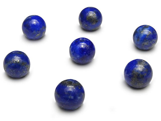 天然石【粒販売】ラピスラズリ 丸玉 6mm【6粒販売 480円】ビーズとパワーストーン