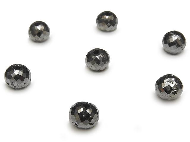 天然石【粒販売】ブラックダイヤモンド ボタンカット 4mm【1粒販売 3,030円】ビーズとパワーストーン