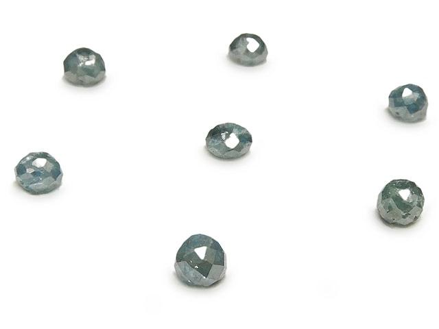 天然石ビーズ【粒販売】ブルーダイヤモンド ボタンカット 3mm【2粒販売 3,680円】とパワーストーン