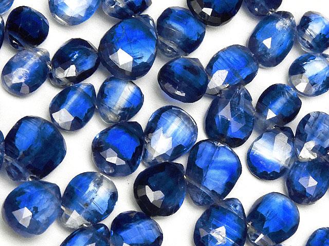 天然石【連販売】カイヤナイトペアシェイプカット 5〜14mm【半連 5,390円〜】ビーズとパワーストーン