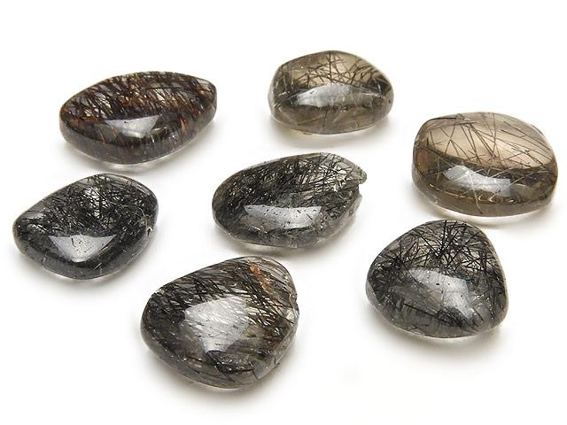 天然石【粒販売】スリランカ産 ブラックルチルクォーツ ナゲット 11〜14mm【1粒販売 460円】ビーズとパワーストーン