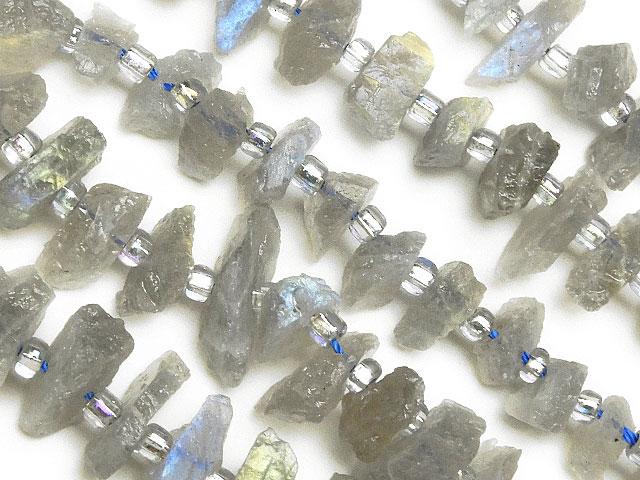 天然石【連販売】ラブラドライト ラフロック 5〜17mm【1連 1,200円】ビーズとパワーストーン