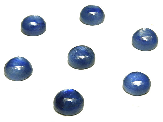 ビーズ天然石【粒販売】カイヤナイト カボション 6mm【6コ販売 350円】とパワーストーン