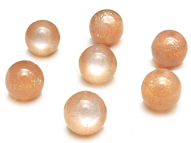 天然石【粒販売】オレンジムーンストーン 丸玉 8mm【4粒販売 580円】ビーズとパワーストーン