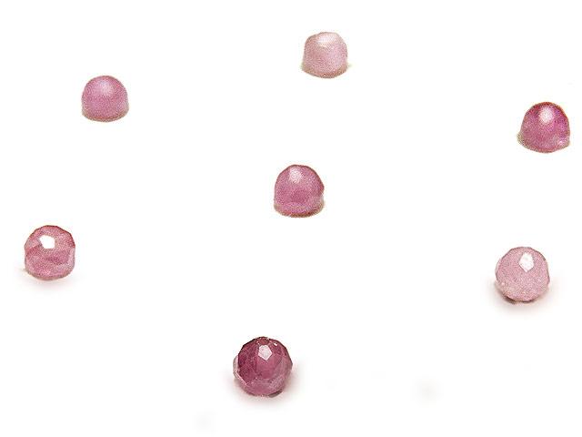 ビーズ天然石【粒販売】ピンクトルマリン ボタンカット 3mm【15粒販売 480円】とパワーストーン